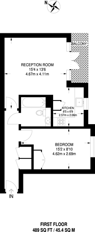Large floorplan for St Georges Way, Peckham, SE15
