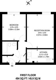 Large floorplan for Priory Park Road, Kilburn, NW6