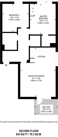 Large floorplan for Plender Street, Camden, NW1