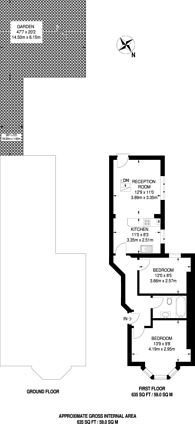 Large floorplan for Belvoir Road, East Dulwich, SE22