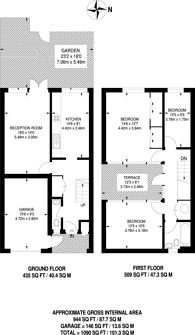 Large floorplan for Neville Close, Peckham, SE15