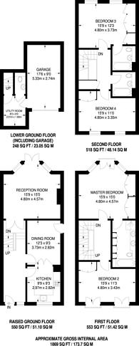 Large floorplan for Denton Road, Richmond, TW1