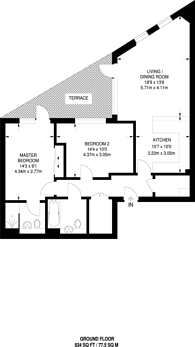 Large floorplan for Corio, Bermondsey, SE1