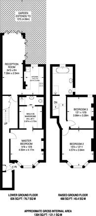 Large floorplan for Ashmore Road, Maida Hill, W9