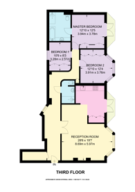 Large floorplan for Montagu Mansions, Portman Estate, W1U