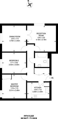 Large floorplan for Blackwall Way, Canary Wharf, E14