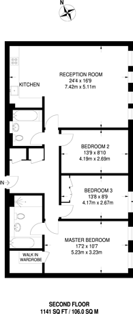 Large floorplan for Shaftesbury Avenue, Covent Garden, WC2H