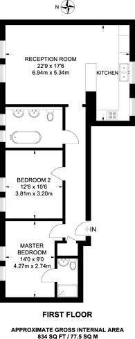 Large floorplan for Met Building, Blackheath, SE12