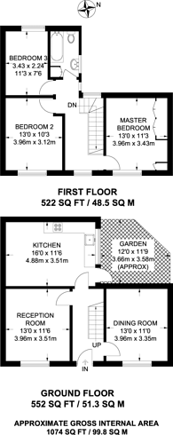 Large floorplan for Dorton Close, Peckham, SE15