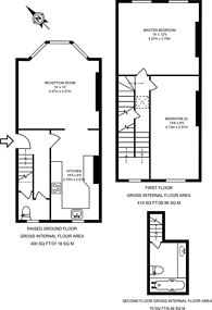 Large floorplan for Medina Road, Finsbury Park, N7