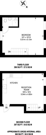 Large floorplan for Redchurch Street, Bethnal Green, E2