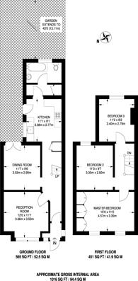Large floorplan for Thornton Road, Croydon, CR0