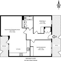 Large floorplan for Pellerin Road, Dalston, N16