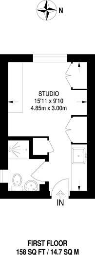 Large floorplan for Waldemar Avenue, Munster Village, SW6
