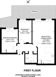 Large floorplan for St Johns Road, Battersea, SW11