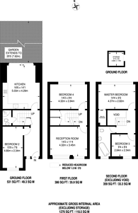 Large floorplan for Rita Road, Stockwell, SW8
