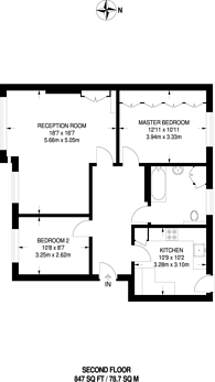 Large floorplan for Edge Hill, Wimbledon, SW19