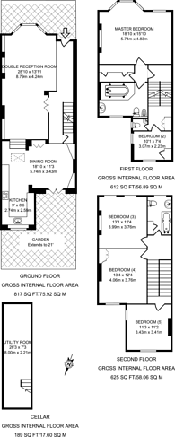 Large floorplan for Beauclerc road, Brackenbury Village, W6