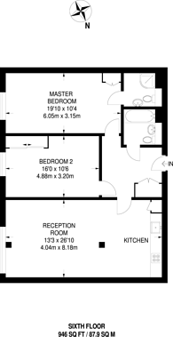 Large floorplan for Scarbrook Road, Central Croydon, CR0