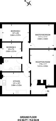 Large floorplan for Southcote Rise, Ruislip, HA4