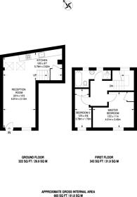 Large floorplan for Ovington Mews, Knightsbridge, SW3