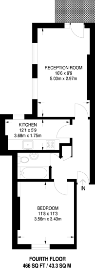 Large floorplan for Penfold Place, Lisson Grove, NW1