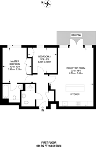 Large floorplan for Town Meadow, Brentford, TW8