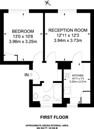 Large floorplan for Cecilia Road, Dalston, E8