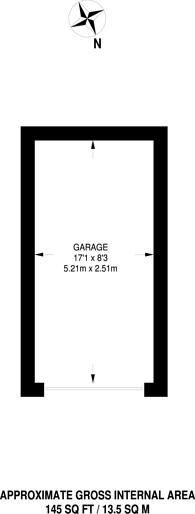 Large floorplan for High Road, Whetstone, N20