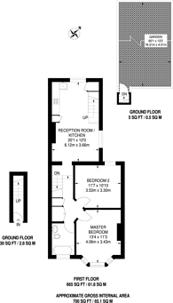 Large floorplan for Harrington Road, South Norwood, SE25