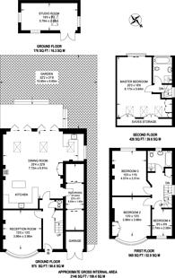 Large floorplan for Doyle Gardens, Kensal Green, NW10