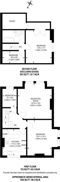 Large floorplan for Cromford Road, Putney, SW18