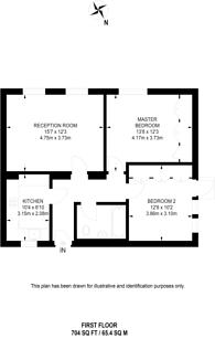 Large floorplan for Park Road, Regent's Park, NW1