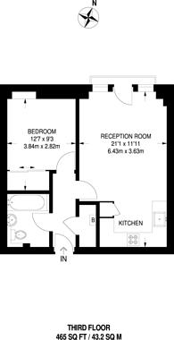 Large floorplan for Flynn Court, Westferry, E14