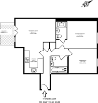 Large floorplan for Old Devonshire Road, Balham, SW12