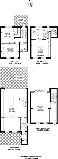 Large floorplan for Ockendon Road, De Beauvoir Town, N1