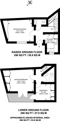 Large floorplan for Hormead Road, Westbourne Park, W9