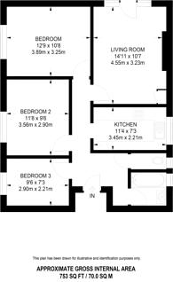 Large floorplan for Southgate Road, Islington, N1
