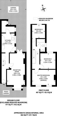 Large floorplan for Squarey Street, Earlsfield, SW17
