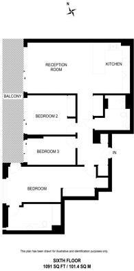 Large floorplan for Buckingham Palace Road, Victoria, SW1W