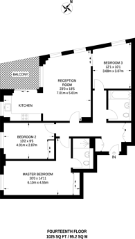 Large floorplan for Waterview Drive, North Greenwich, SE10