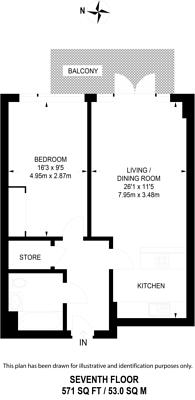 Large floorplan for The Vibe, Dalston, E8