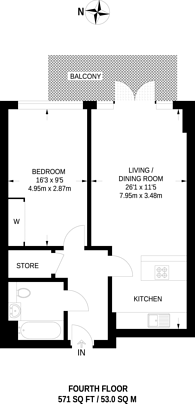Large floorplan for The Zest House, Dalston, E8