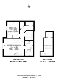 Large floorplan for Regents Court, Kingston, KT2