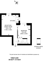 Large floorplan for Ovington Gardens, Knightsbridge, SW3