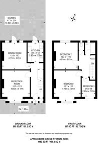 Large floorplan for Fernside Road, Nightingale Triangle, SW12