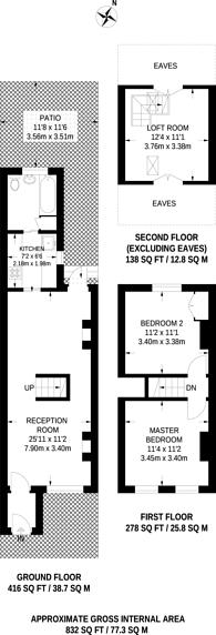 Large floorplan for Myrtle Road, Hounslow, TW3