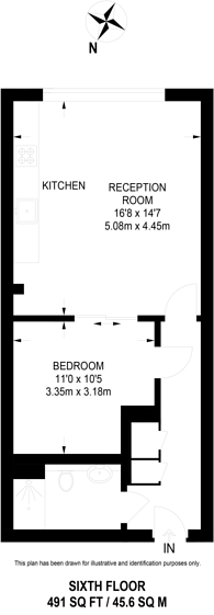 Large floorplan for Mapleton Road, Wandsworth, SW18