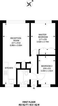 Large floorplan for Turner Street, Whitechapel, E1