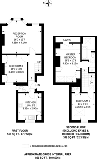 Large floorplan for Gironde Road, Parsons Green, SW6
